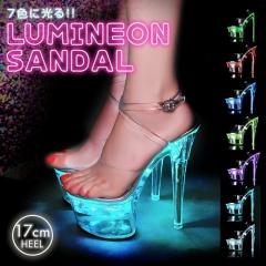【予約販売/4月下旬頃より順次発送】[17cmヒール]LUMINEON SANDAL