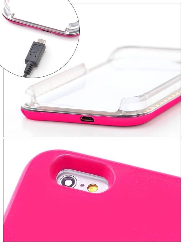 【送料無料/メール便対応】セレブライト iPhone6S/iPhone6対応LEDライトケース